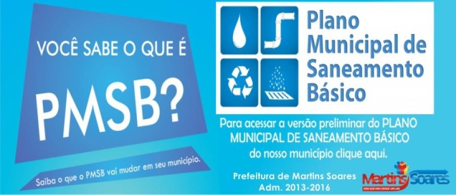 Plano Municipal de Saneamento Básico de Martins Soares